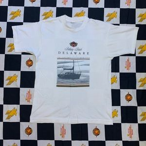Vintage Delaware Tee Size Large 90s